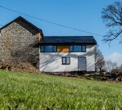 A stone barn conversion designed by Hughes Architects