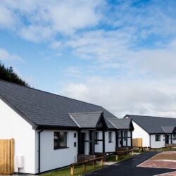 The new homes are the first Passivhaus standard homes to be completed for Powys County Council Hughes Architects